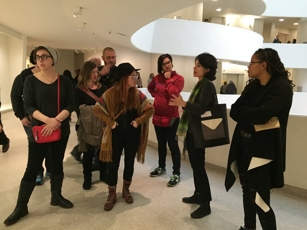 Students visited some of the city's most buzzed-about exhibitions