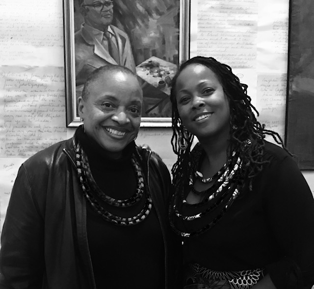 Deborah Willis with IDSVA student Michelle Perkins at the Johannesburg Art Gallery, 2016, Photo by an unidentified kind soul