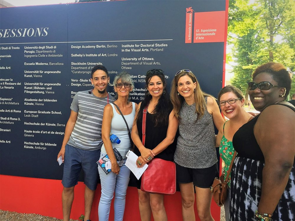Biennale sessions banner at the Venice Biennale Giardini , Photo Credit: Simonetta Moro