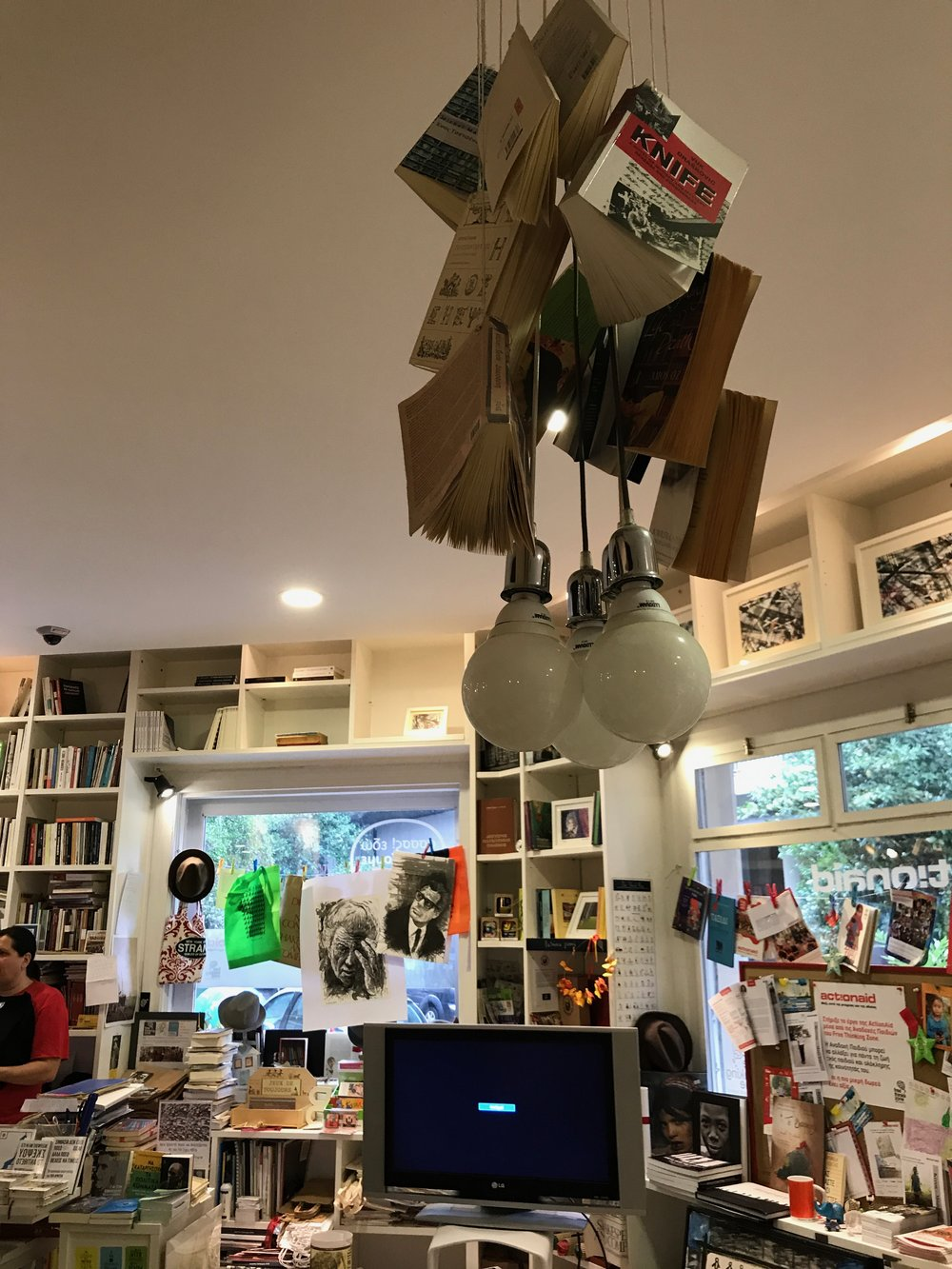 Decor inside of Free Thinking Zone bookshop and activism space . Photo Credit: Erin Latham