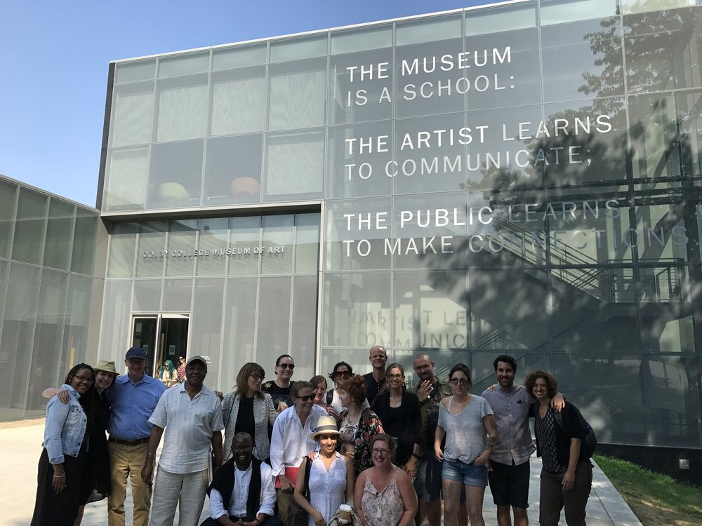 IDSVA students and amd faculty with Dr. Driskell outside the Colby College Art Museum, 2017  Photo Credit: Molly Davis