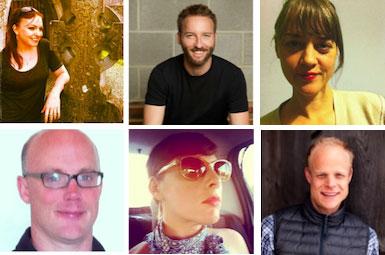 Clockwise from top left: Angelalynn Dunlop, Gabriel Reed, Jennifer Rissler, Christopher Yates, Keren Moscovitch, Jeff Siemers