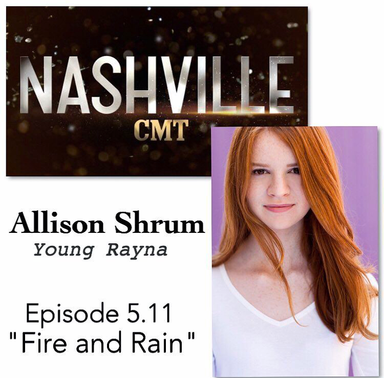 Allison as Young Rayna on CMT's Nashville!!