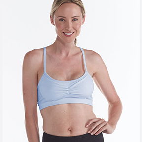 GAIAM ORGANIC BRA TOP (Halogen Blue)