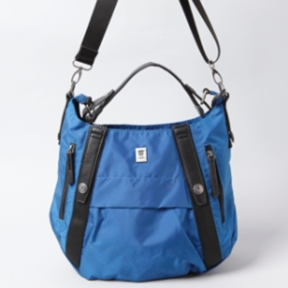 BROOKLYN INDUSTRIES FENIX CROSS BODY BAG (Blue) Water-resistant and holds everything