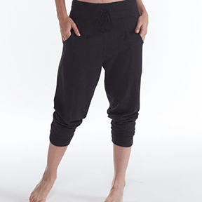GAIAM ORGANIC COTTON FLOW HAREM PANT  Relaxed drop and ultra-soft fabric, made by a certified fair trade mill in Peru.