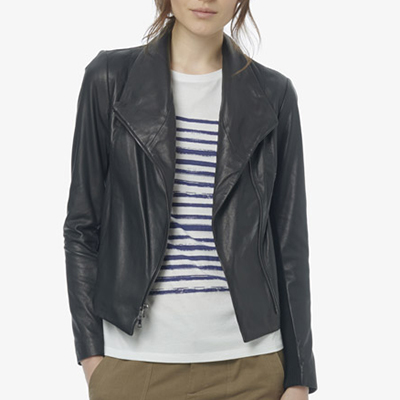 Vince Leather Scuba Jacket