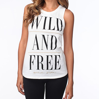 Spiritual Gangster Wild and Free White Tank