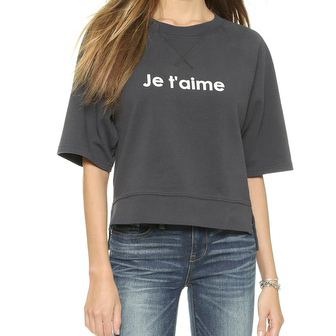 Madewell Je t'aime Short Sleeve Top Great for a low key day of RomCom flicks.