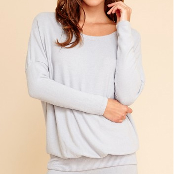 Eberjey Cozy Time Slouchy Tee Perfect for giving yourself a big hug. This top has an ultra cuddly feel.