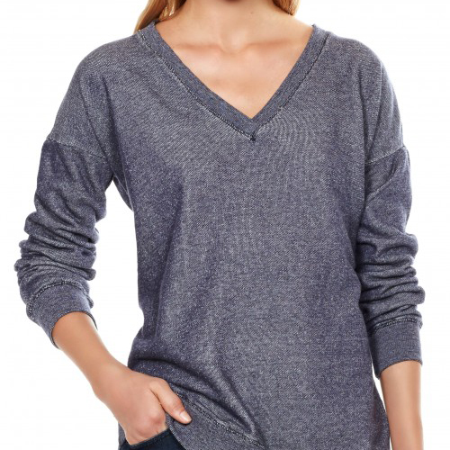 Soft Joie Beau C Sweatshirt I love the V-neck line on this comfy sweatshirt.