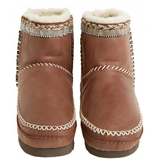 Laid Back London (for Calypso St. Barth) Nyali Embellished Leather Boots
