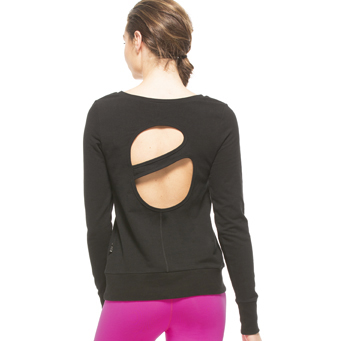 Splits59 Astrid Saturn Back Pullover Grab this pullover that isn't too baggy, but hits below the hip for a long, relaxed, stylish look.