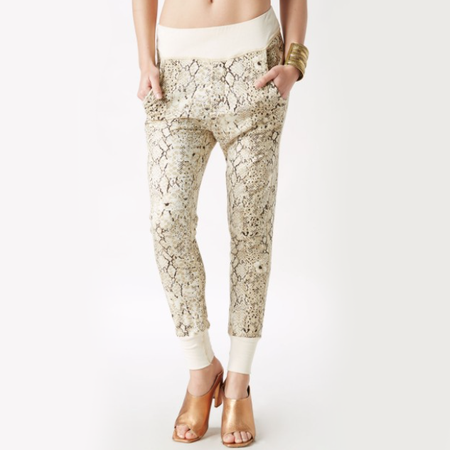 Spell Aloha Python Slouchies These cute and comfy slouchy pants are perfect for lounging, and then spontaneously meeting up with friends for an Old-Fashioned. Pair it with booties and a slouchy tee.
