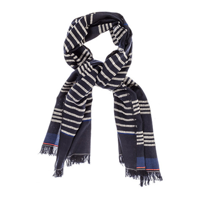 "Lemlem ""Kulkulu"" Split Scarf This scarf — handmade in Ethiopia — is made of merino wool and cotton. Liya Kebede, supermodel/ actress and huge face of women's health around the world started this company in her native country of Ethiopia in order to help weavers keep their jobs."