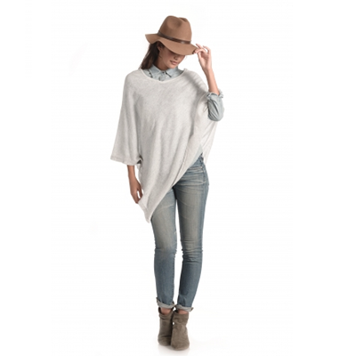 Synergy Organic Clothing Pale Grey Cashmere Poncho
