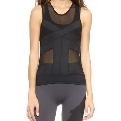 """Phat Buddha MacDougal Top Built-in bra with high support, and """"off-the-mat style"""" for a workout or night out look."""