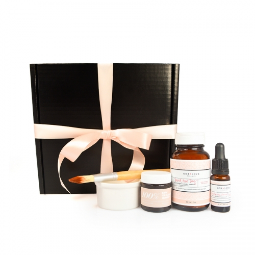 One Love Organics Merry and Bright Facial Gift Set