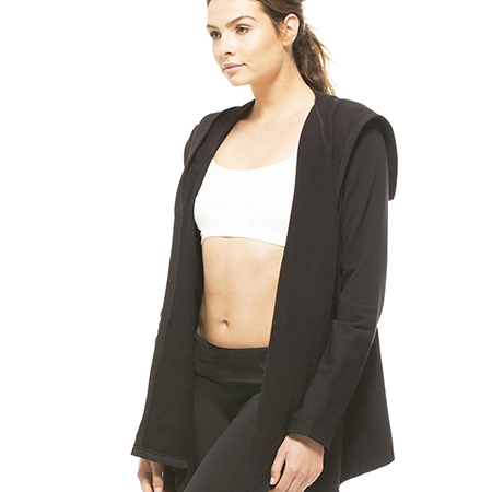 Splits59 Quincy Noir Fleece Wrap Jacket