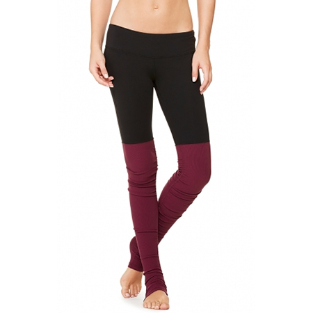 Alo Yoga Goddess Ribbed Legging (in Garnet)