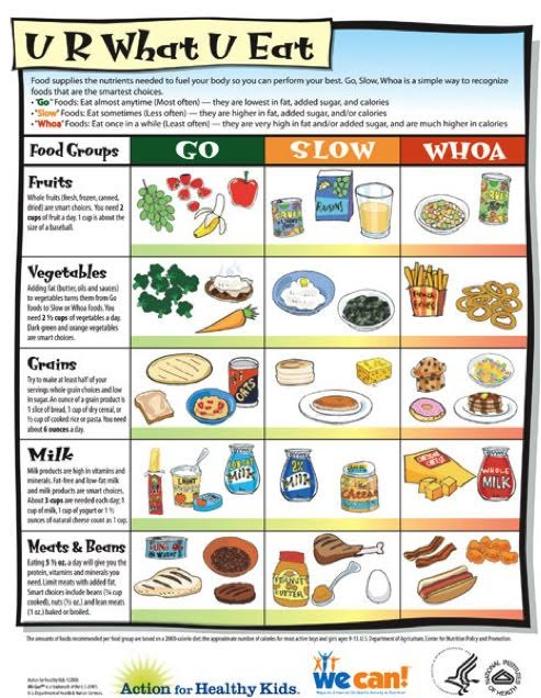 Instead Give Your Kids An Idea Of What Everyday Foods Sometimes Foods And Once In A Blue Moon Foods Are And Give Them Examples From Each Food Group
