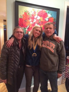 With my parents after running the Boston Marathon in 2015