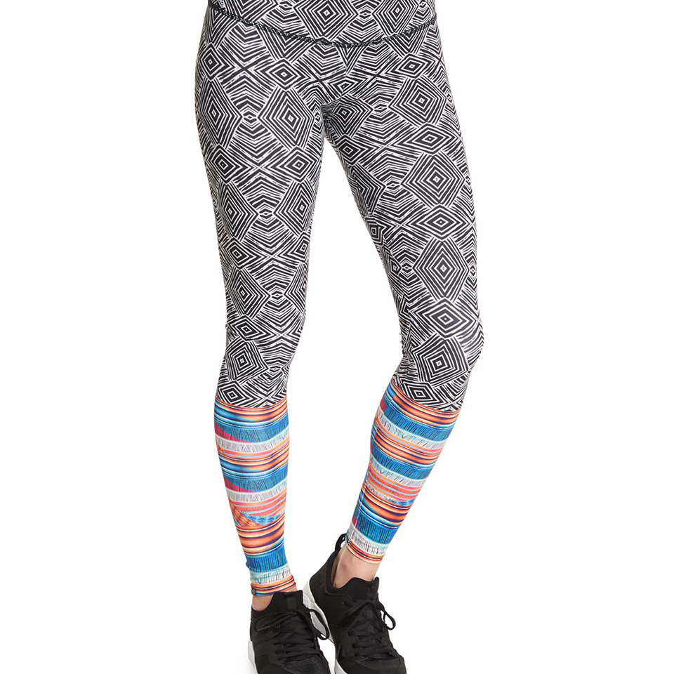 Onzie Graphic Long Sport Leggings, Tribal Effect  $76.00