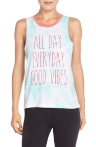 SPIRITUAL GANGSTER    Women's Spiritual Gangster 'Good Vibes All Day' Muscle Tee    $56.00