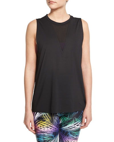 ONZIE    Triangle Sport Tank with Mesh-Insert    $39.00