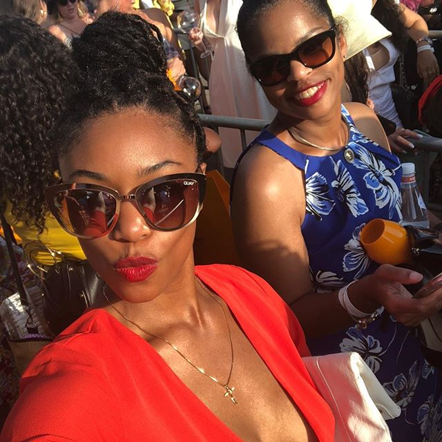Such a great time today with mama and my boo thangs! #vcpoloclassic #igetitfrommymama
