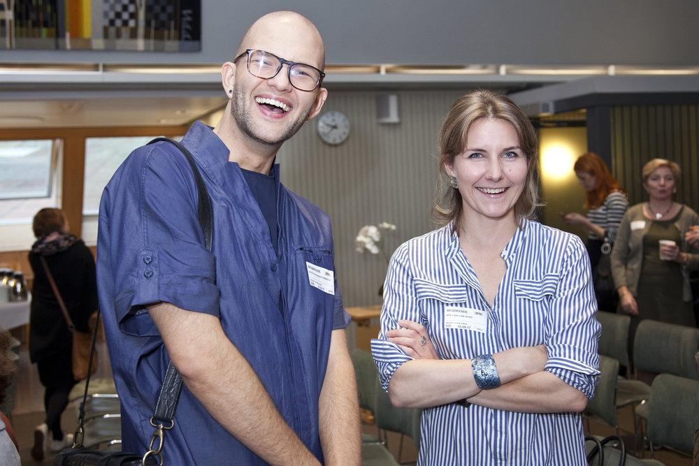 Alexander Vega (Norway Designs) and designer Linn Sigrid Bratland