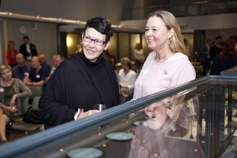 Kirsten Eli Bergersen and designer Elisabeth L. Due (Sugar Shop)