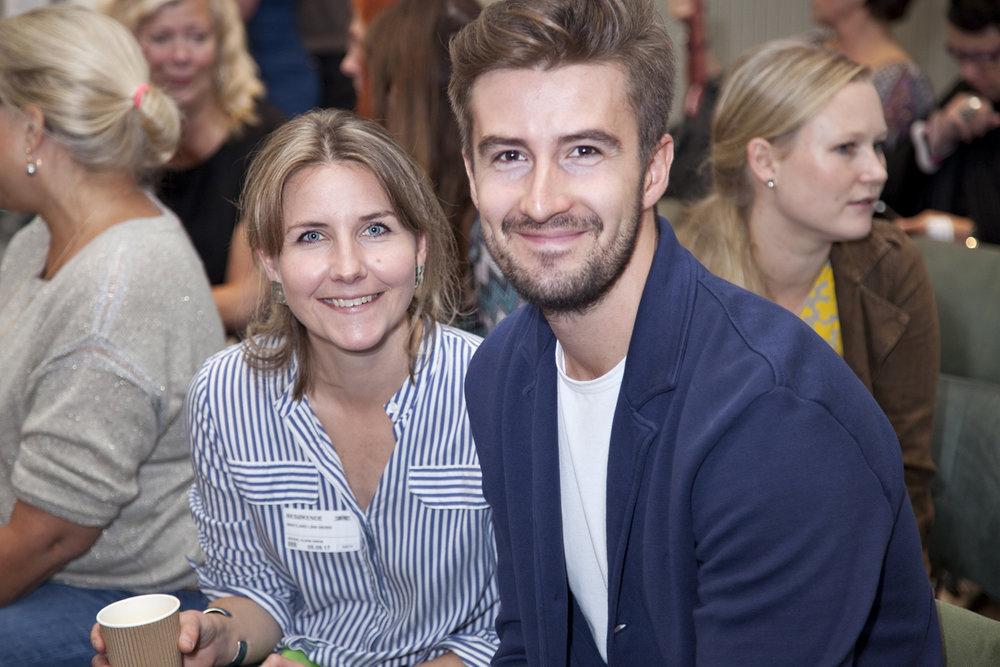 Designers Linn Sigrid Bratland and Vlad Kladko
