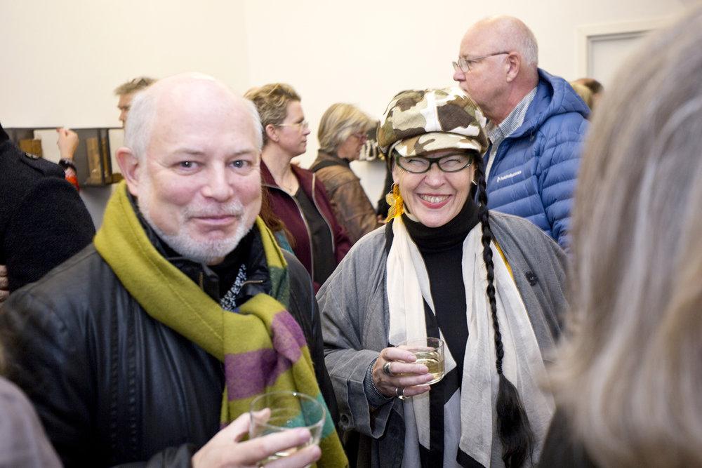 Guests Lars Elton and Kirsten Eli Bergersen