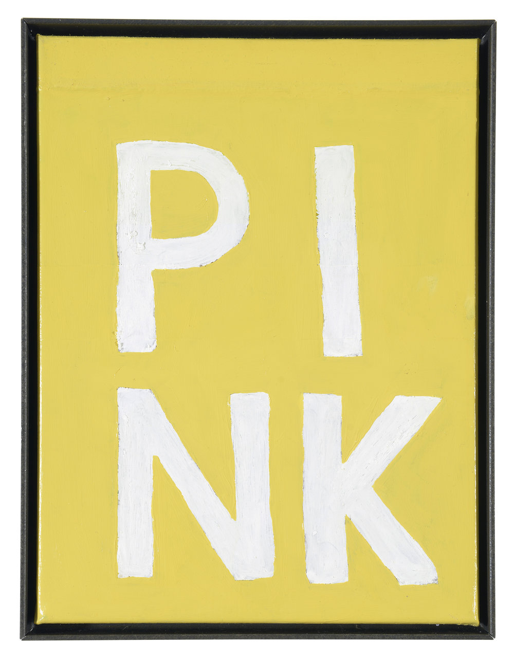 ART N MORE (Paul Bowler & Georg Weißbach), PINK (Four-letter words), 2016, Oil on canvas in artist's frame, 40 x 30 cm