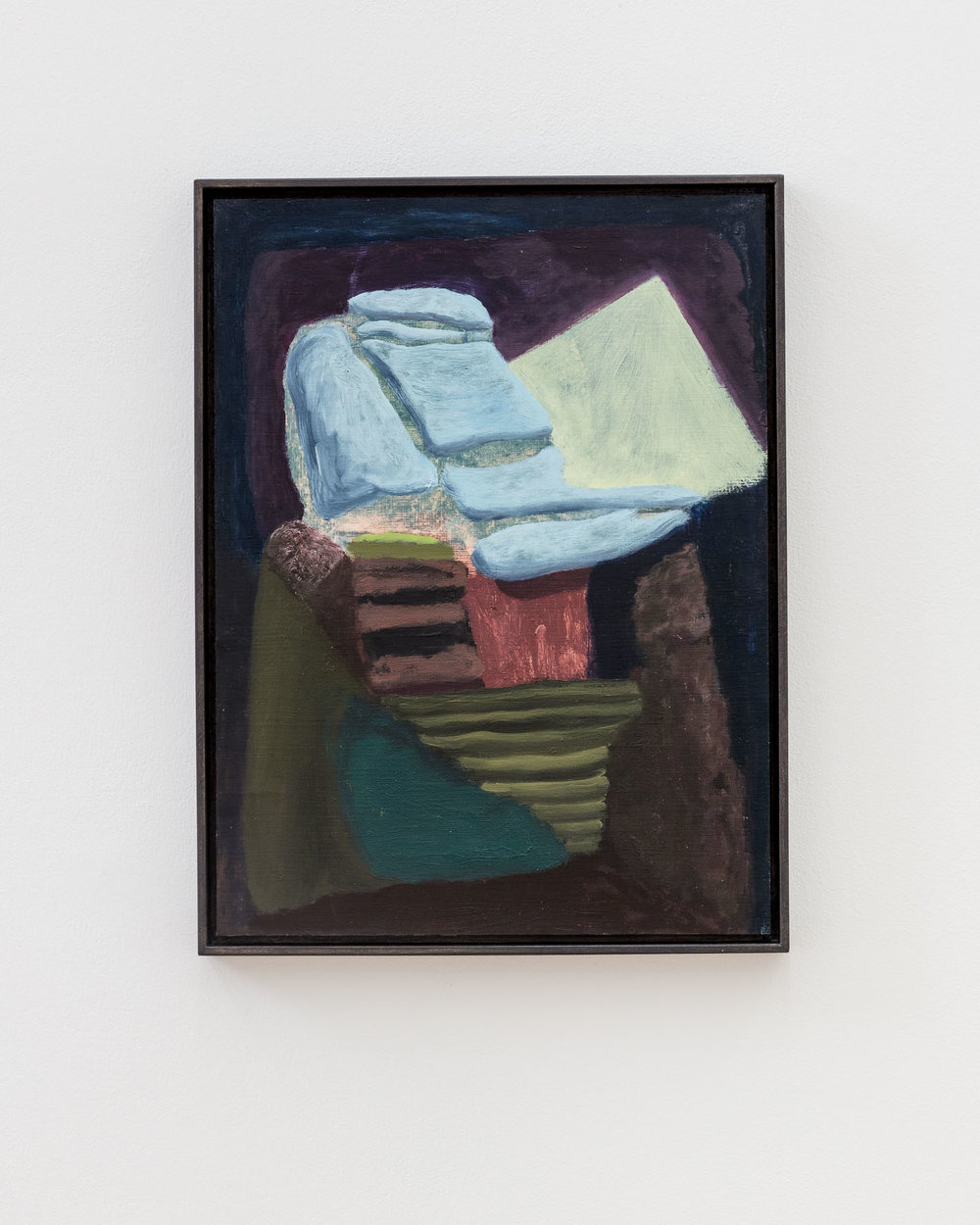 Veronika Hilger, untitled, 2016, oil on paper, 40 x 30 cm