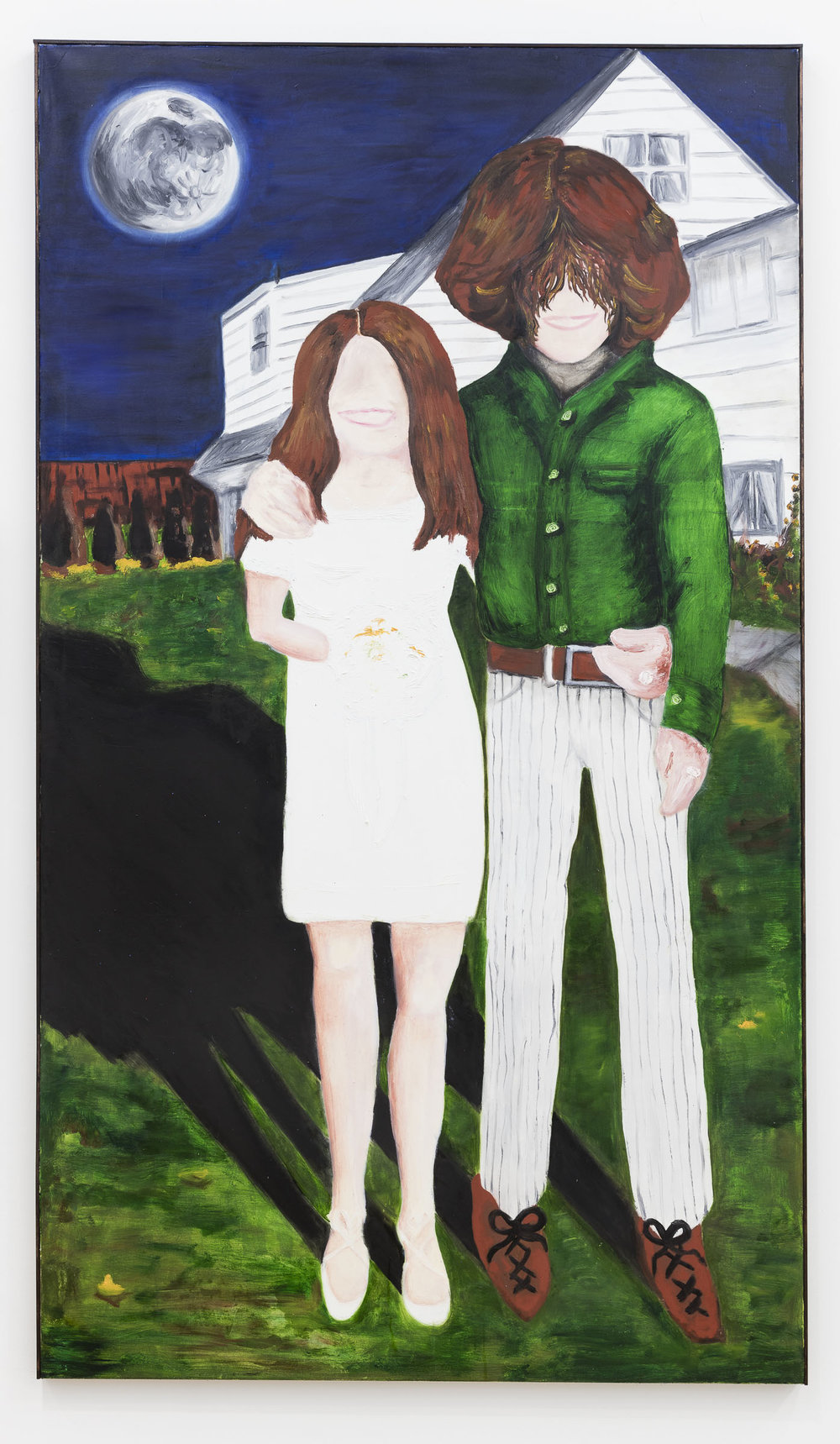 Anna McCarthy, Fred and Toody '67, 2018, oil on canvas, 212 x 121 cm
