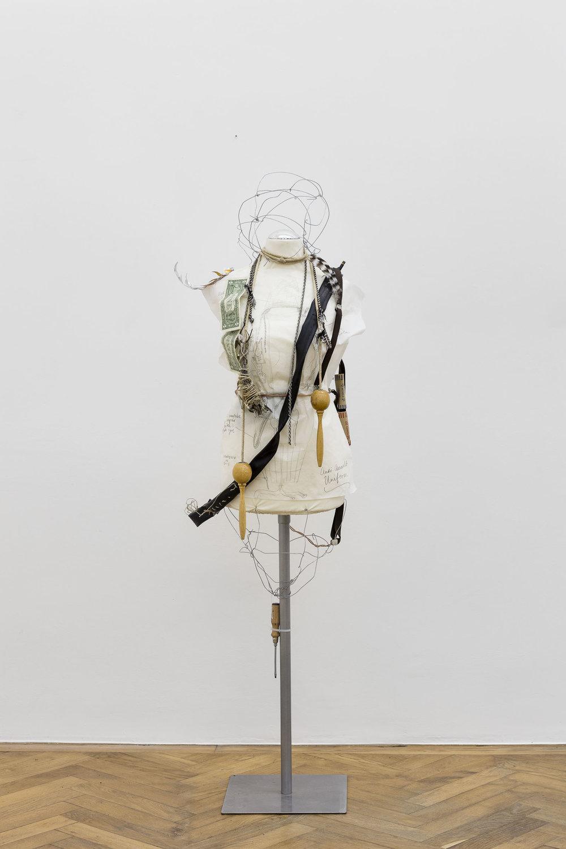 Anna McCarthy, Anti-Assault Uniform (Detroit), 2018, mixed media, 161 x 46 x 31 cm
