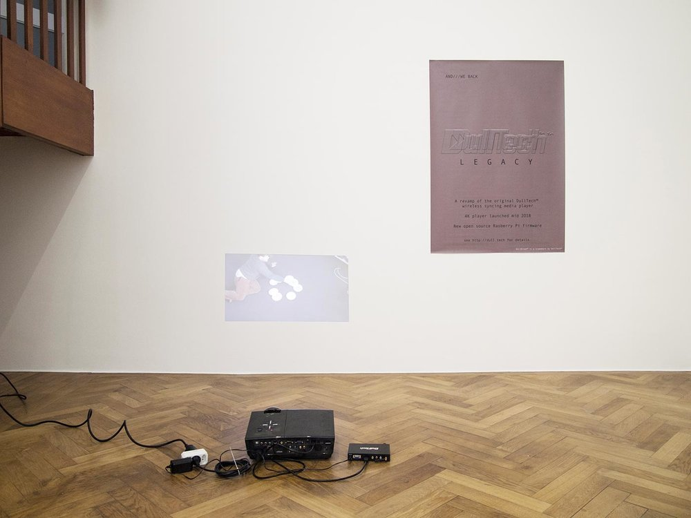 Constant Dullaart (NL), Dulltech Player, Player and video work, installation view, 2018