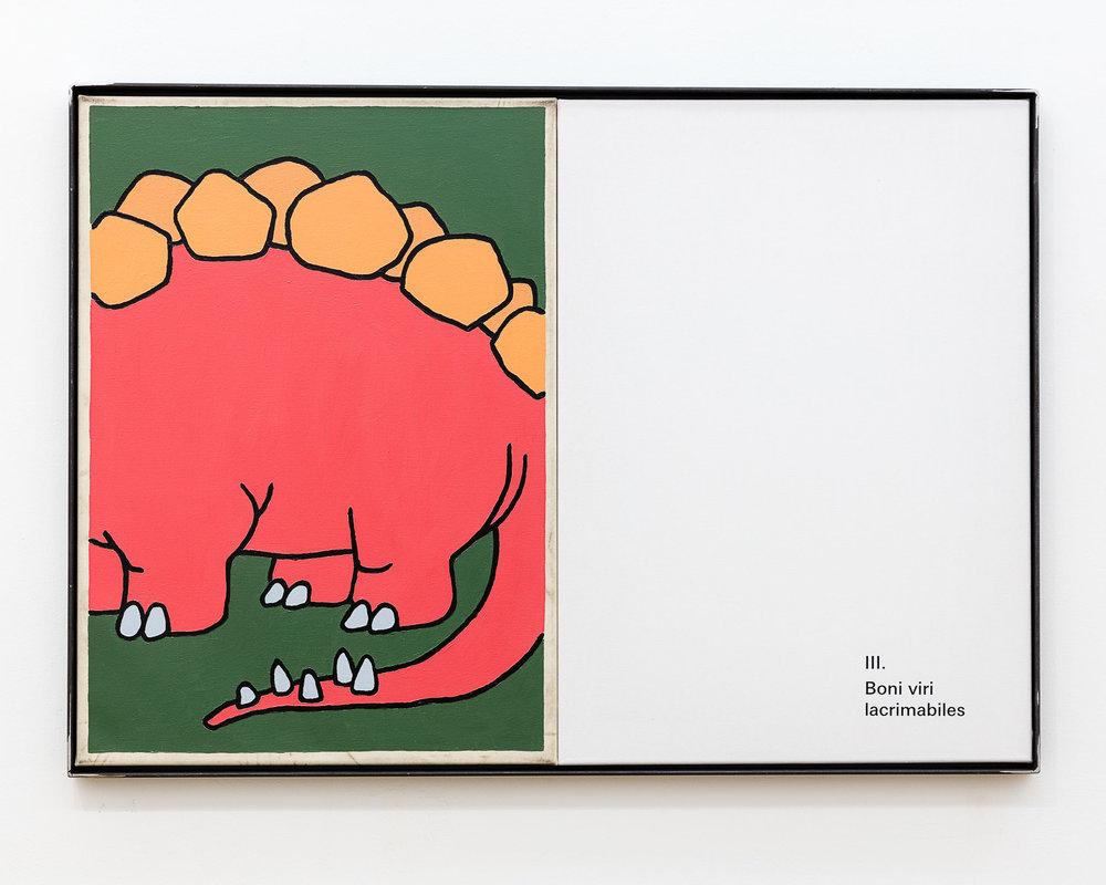 ART N MORE, Boni viri lacrimabiles, 2018, oil and transfer print on canvas in artists frame, 70x100cm