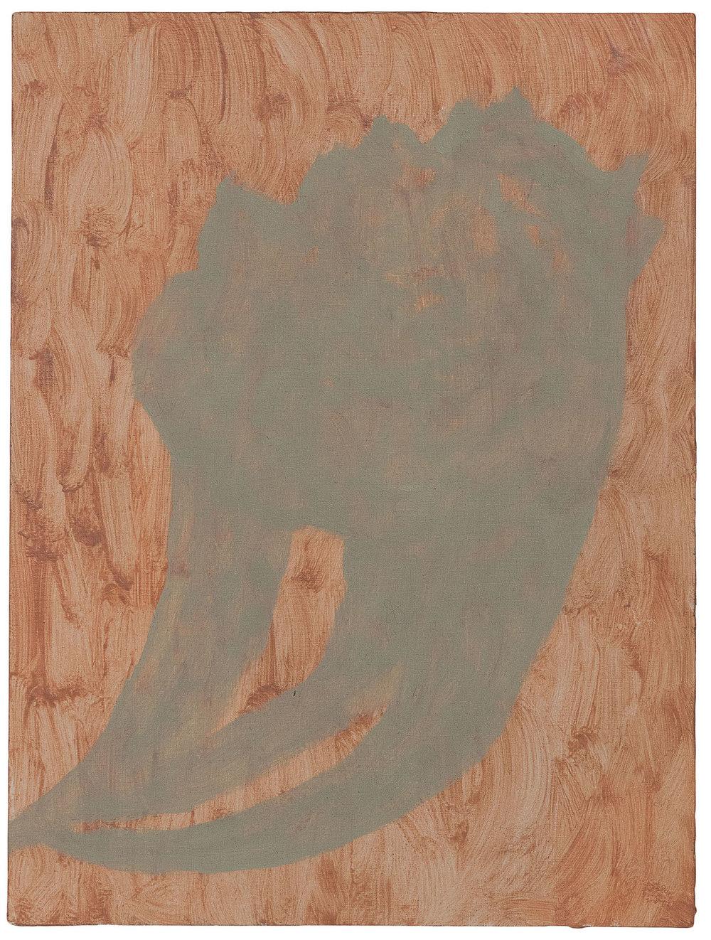 Veronika Hilger, untitled, oil on paper on wood, 2018