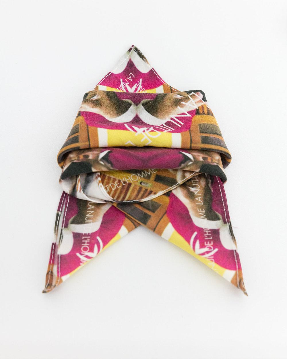 Judith Rau, La Nuit de L'Homme - Caio, pocket square collection, digital print on silk, 2018