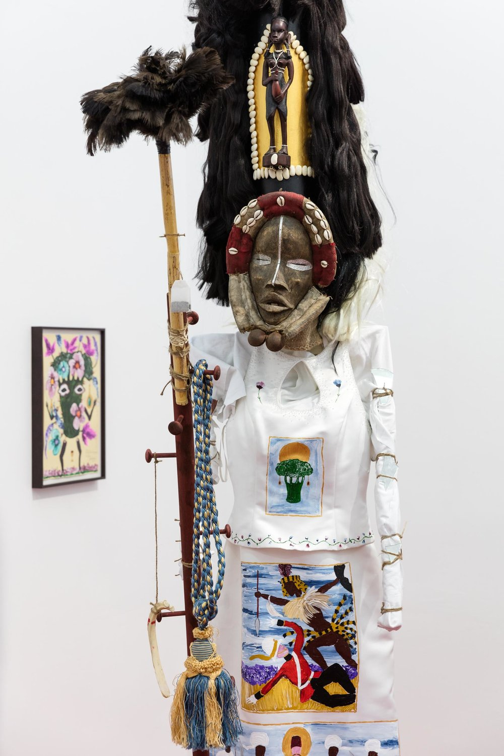 Andrew Gilbert: 'Witch Doctor with sacred Staff', 2018, mixed media, 270 x 70 x 100 cm