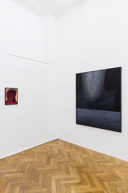 Veronika Hilger, Exhibition View, ICH WEISS NICHT, SOLL ICH RAUSGEHEN, SPERLING, 2019
