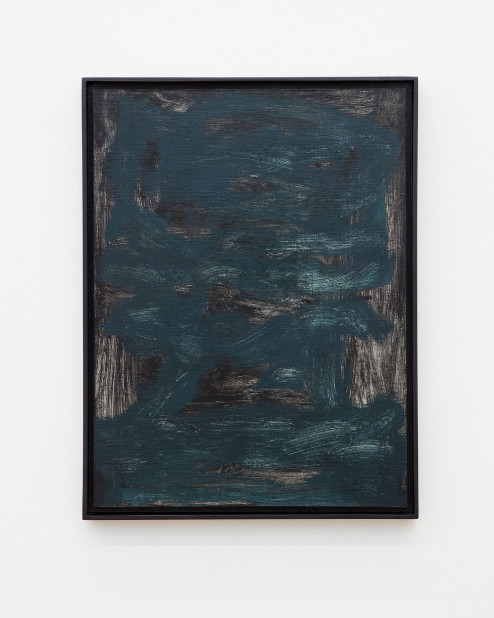 Veronika Hilger: Untitled, 2019, oil on paper on MDF in artists frame, 39,7 x 29,8 cm