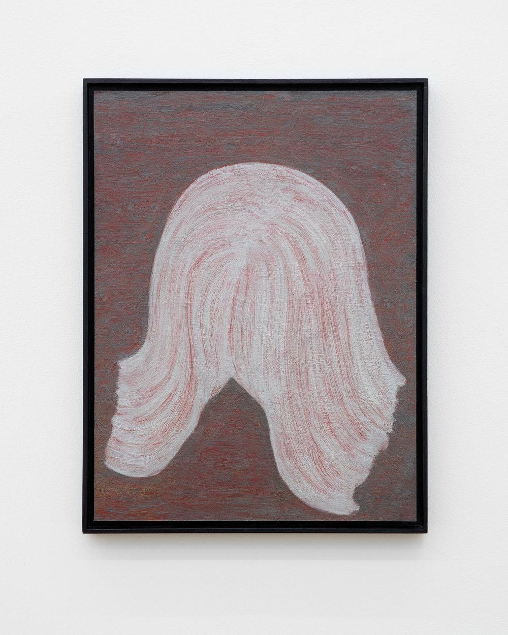 Veronika Hilger: Untitled, 2019, oil on paper on MDF in artists frame, 39,7 x 29,7 cm