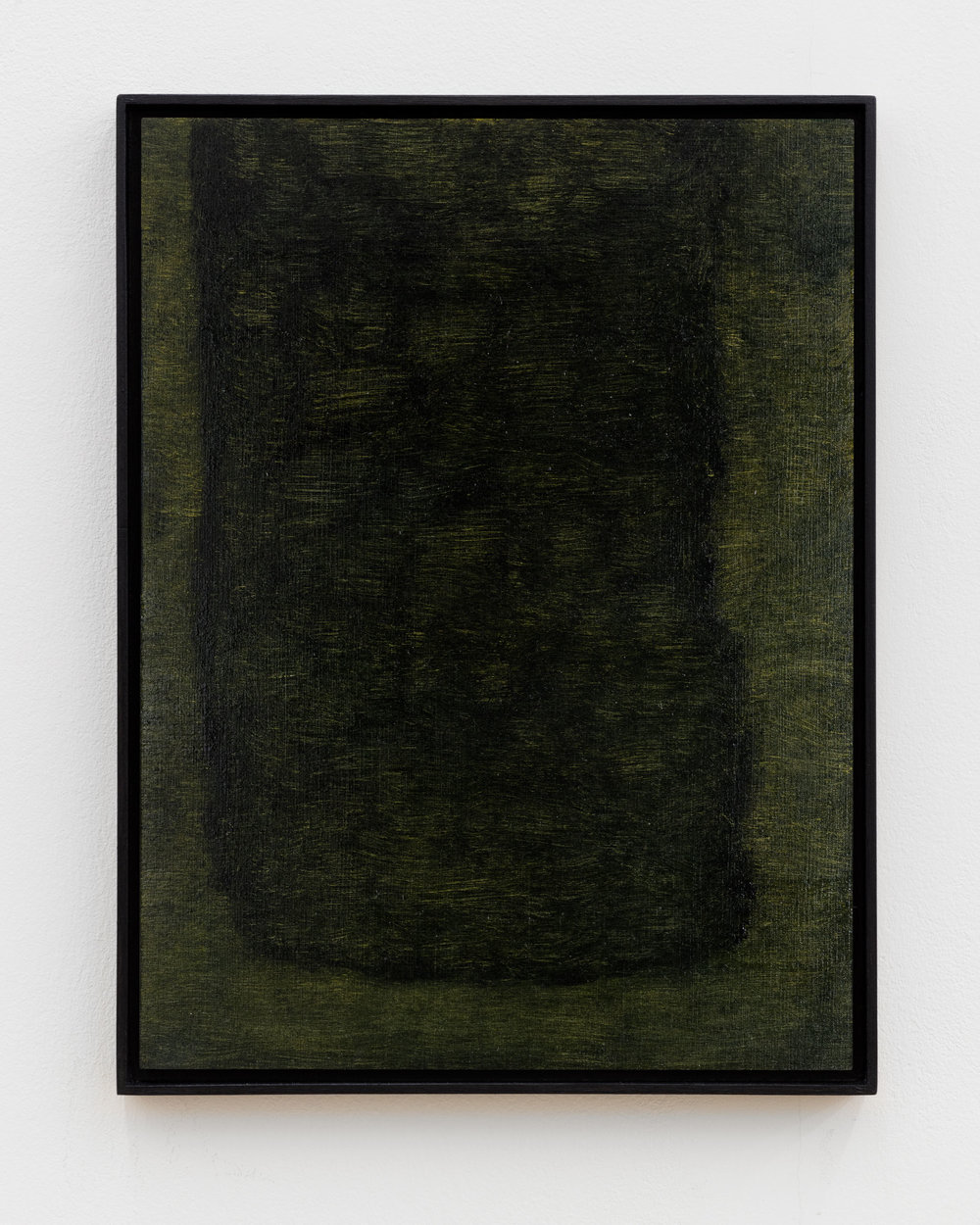 Veronika Hilger: Untitled, 2018, oil on paper on MDF in artists frame, 39,8 x 29,8 cm