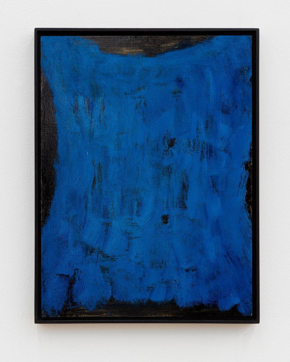 Veronika Hilger: Untitled, 2018, oil on paper on MDF in artists frame, 39,7 x 29,8 cm