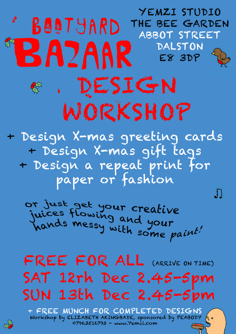 Yemzi's Bootyard X-Mas Design Workshop