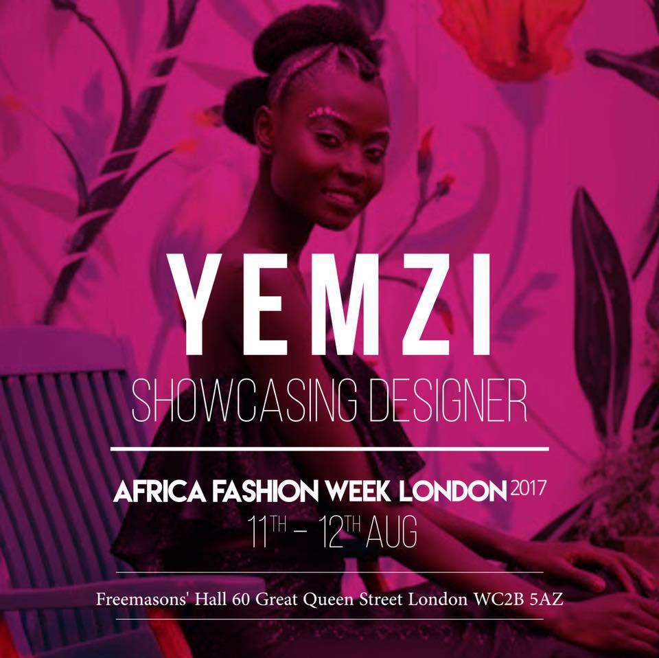Yemzi to showcase SS18 at Africa Fashion Week London this summer